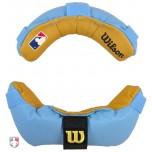 Wilson MLB Memory Foam Umpire Mask Replacement Pads - Sky Blue and Tan