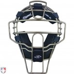 Diamond Grey Big League Aluminum Umpire Mask with Leather