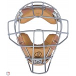 Force3 V2 Silver Defender Umpire Mask with Tan