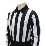 "Smitty 2"" Stripe Heavyweight Interlock Long Sleeve Football Referee Shirt"