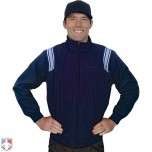 Smitty Major League Style Fleece Lined Umpire Jacket - Navy and Polo Blue