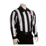 "Smitty 2 1/4"" Stripe Fleece-Lined Cold Weather Football Referee Shirt with CHEST USA FLAG"