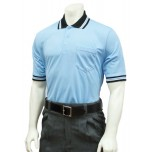 Smitty Pro Knit Umpire Shirt - Powder Blue with Black Collar