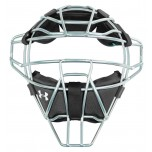 Under Armour Silver Umpire Mask with Black Windpact