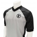 Minnesota (MSHSL) Men's Body Flex Grey & Black V-Neck Referee Shirt