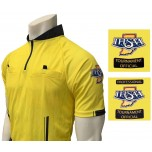 Indiana (IHSAA) Short Sleeve Soccer Referee Shirt - Yellow