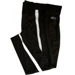 Kentucky (KHSAA) Embroidered Smitty Warm Weather Black Football Pants with White Stripe