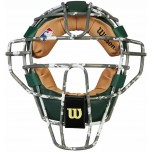 Wilson MLB Camo Dyna-Lite Steel Umpire Mask with Green and Tan