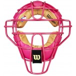 Wilson MLB Pink Dyna-Lite Steel Umpire Mask with Pink and Tan