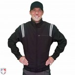 Adams Major League Style Fleece Lined Umpire Jacket - Black and White