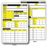 RefSmart Double Sided Football Referee Reusable Information Card