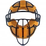 All-Star Black Magnesium Umpire Mask with Vintage Tan Leather