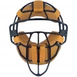 All-Star Black Magnesium Umpire Mask with Deerskin