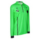 Final Decision Elite Long Sleeve Soccer Referee Shirt - Green