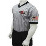 Mississippi (MHSAA) Men's Body Flex Grey V-Neck Referee Shirt