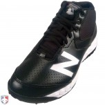 New Balance V3 MLB Black & White Mid-Cut Umpire Base Shoes