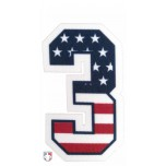 "3"" USA Stars and Stripes Precision-Cut Number"