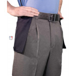 Smitty Heather Grey Umpire Plate Pants with Expander Waistband