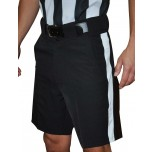Smitty Premium Black Football Referee Shorts with White Stripe