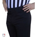 Smitty NBA Style 4-Way-Stretch Premium Referee Pants - Flat Front Tapered Fit with Western-Cut Pockets