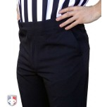 Smitty NBA Style 4-Way-Stretch Premium Referee Pants - Flat Front Tapered Fit with Slash Pockets