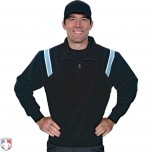 Smitty Traditional Half-Zip Umpire Jacket - Black and Powder Blue