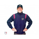 Indiana (IHSAA) Smitty Fleece Lined Umpire Jacket - Navy and Red