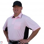 Smitty Major League Replica Umpire Shirt - Pink with Black