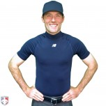 New Balance Challenger Mock Neck Short Sleeve Compression Shirt - Navy