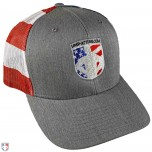 Ump-Attire.com Stars and Stripes Patriotic Trucker Cap