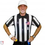 "Smitty 2"" Stripe Body Flex Short Sleeve Football Referee Shirt with Position Placket"