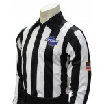 "Georgia (GHSA) 2"" Stripe Foul Weather Referee Shirt"
