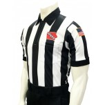 "Iowa (IHSAA) 2 1/4"" Stripe Body Flex Short Sleeve Football Referee Shirt"