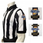 "Indiana (IHSAA) 2 1/4"" Stripe Body Flex Short Sleeve Football Referee Shirt"