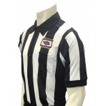 "Nebraska (NSAA) 2 1/4"" Stripe Short Sleeve Football Referee Shirt"