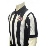 "Nebraska (NSAA) 2 1/4"" Stripe Body Flex Short Sleeve Football Referee Shirt"