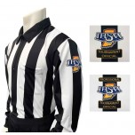 "Indiana (IHSAA) 2 1/4"" Stripe Foul Weather Football Referee Shirt"