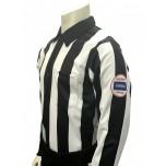 "Kansas (KSHSAA) 2 1/4"" Stripe Long Sleeve Football Referee Shirt"