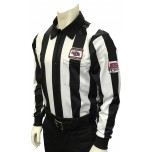 "Nebraska (NSAA) 2 1/4"" Stripe Foul Weather Football Referee Shirt with NHSOA Logo"
