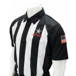 "Alabama (AHSAA) 2 1/4"" Stripe Short Sleeve Football Referee Shirt"