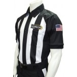 "Louisiana (LHSOA) 2 1/4"" Stripe Body Flex Short Sleeve Football Referee Shirt"