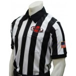 "Mississippi (MHSAA) 2"" Stripe Body Flex Short Sleeve Football Referee Shirt"