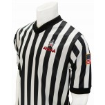 "Alabama (AHSAA) 1"" Stripe Body Flex Men's V-Neck Referee Shirt"