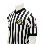 "California (CIF) 1"" Stripe Body Flex Men's V-Neck Referee Shirt"