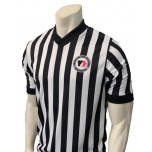 "Iowa Girls (IGHSAU) 1"" Stripe Body Flex Men's V-Neck Referee Shirt"