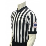 "Kansas (KSHSAA) 1"" Stripe Men's V-Neck Basketball Referee Shirt"
