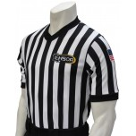 "Louisiana (LHSOA) 1"" Stripe Men's V-Neck Referee Shirt"