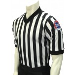 "Missouri (MSHSAA) 1"" Stripe Body Flex Men's V-Neck Referee Shirt"