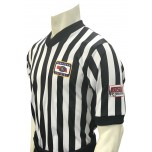 "Nebraska (NSAA-NHSOA) 1"" Stripe V-Neck Men's Referee Shirt with NHSOA Logo"