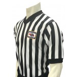 "Nebraska (NSAA) 1"" Stripe Body Flex Men's V-Neck Referee Shirt"